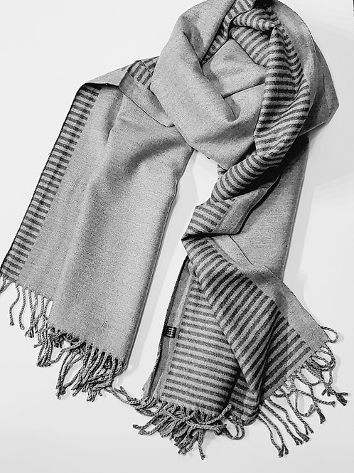 Cashmere blend reversible scarf