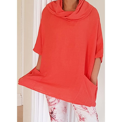 Butterfly Cowl Neck Top