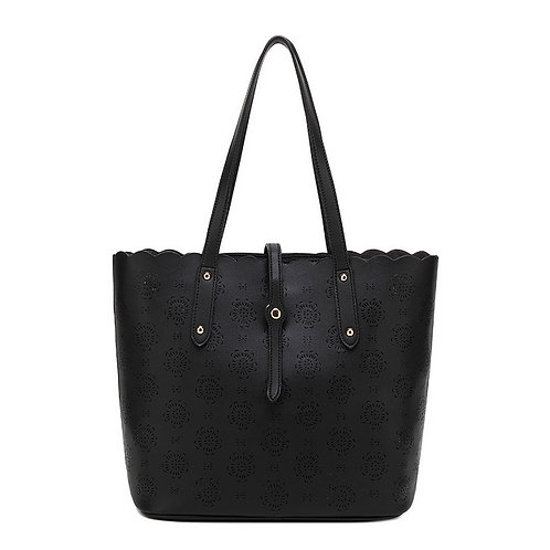 KissKerry Laser Cutout Tote - Black