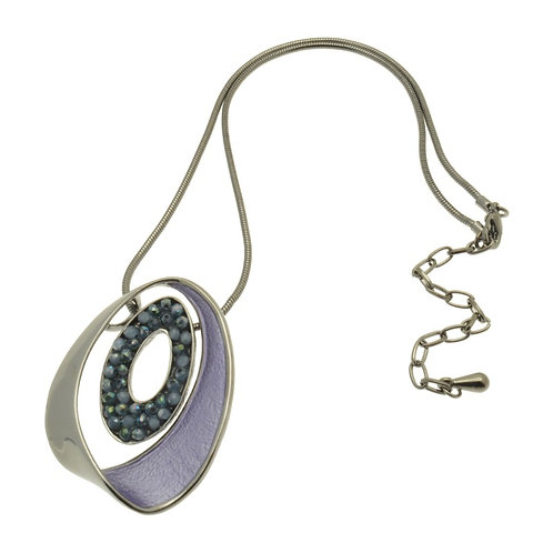 Purple Oval Necklace