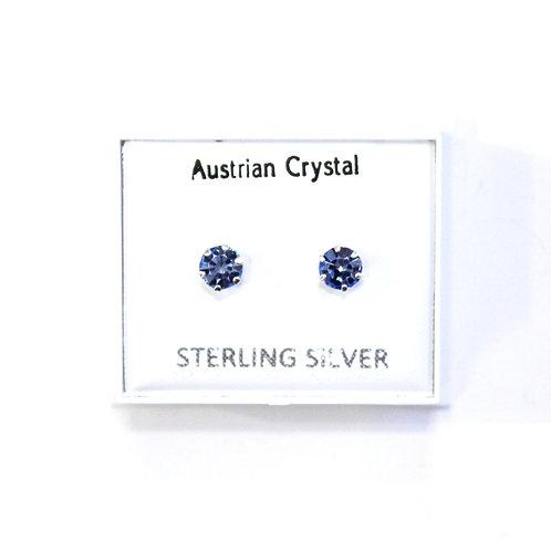 Crystal Studs - Blue