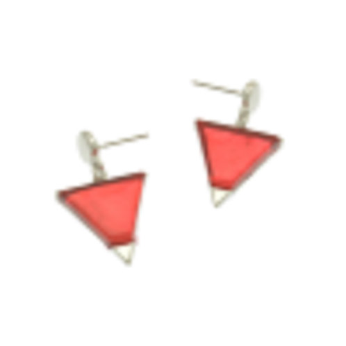 Miss Milly Red Pyramid Earrings