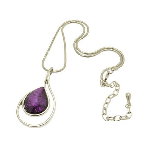 Purple Foil Necklace