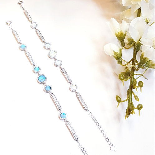 Opalite & Diamante Bracelet