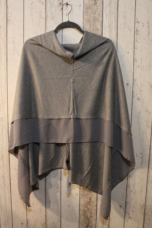 Poncho - Pebble Grey