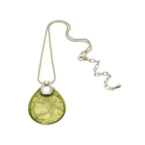 Lime Teardrop Necklace