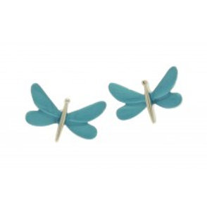 Miss Milly Dragonfly Earrings - Blue