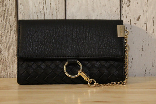 Medium Woven Purse - Black