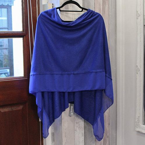 Poncho - Electric Blue