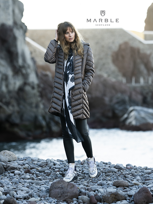 Marble Long Padded Coat