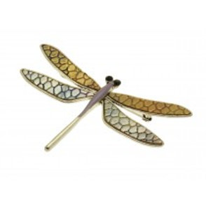 Miss Milly Dragonfly Brooch - Purple
