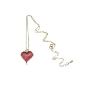 Miss Milly Heart Necklace - Pink