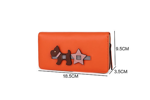 Large Scotty Dog Purse - Orange