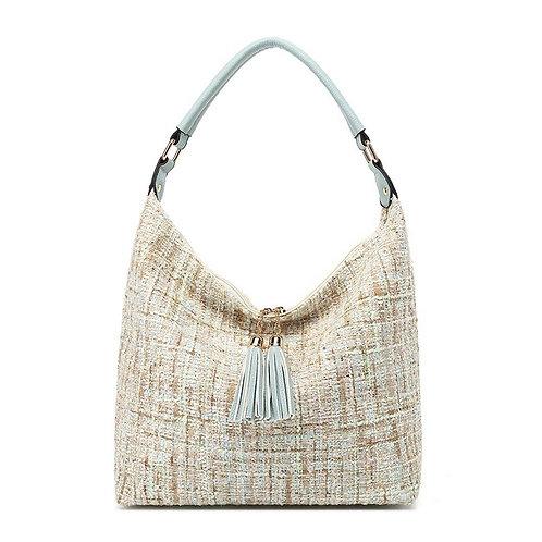 Kiss Kerry Chanel Look Handbag - Grey