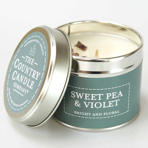 Sweet Pea & Violet Scented Candle