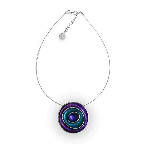 Purple Circle Necklace