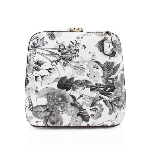 Floral Handbag - Grey
