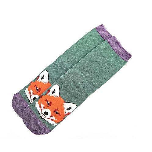 Fox Portrait Bamboo Socks