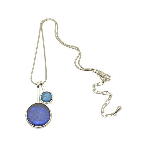 Blue Disc Necklace