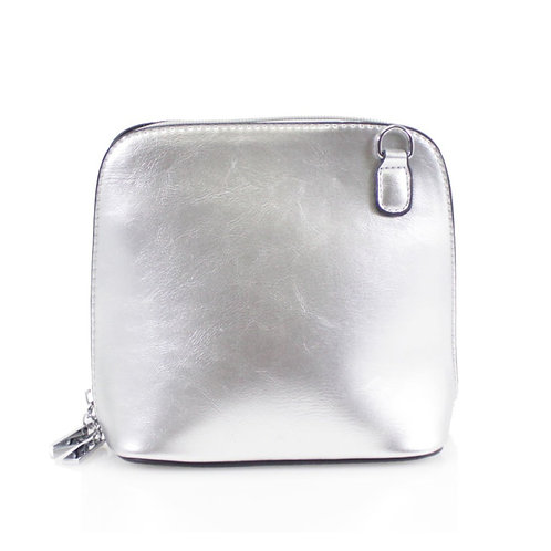 Cross-body Handbag - Silver
