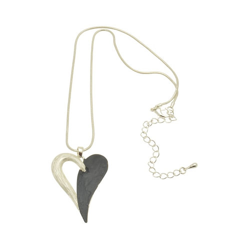 Navy Heart Necklace