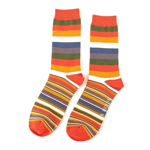 Men's Striped Bamboo Socks