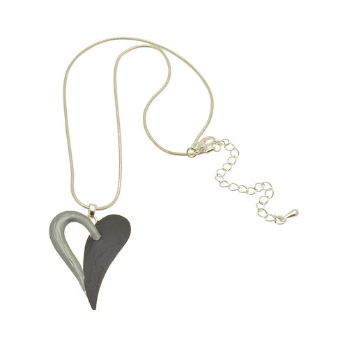 Grey Heart Necklace