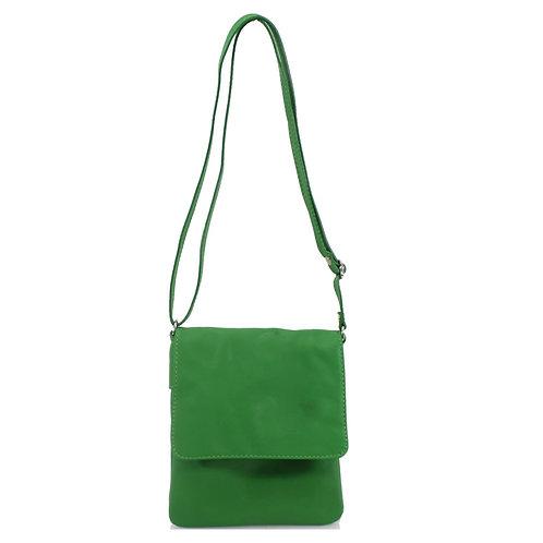 Italian Leather Handbag - Green