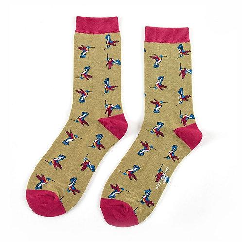 Hummingbird Bamboo Socks