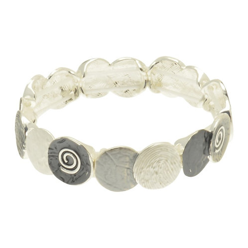 Grey Coin Bracelet