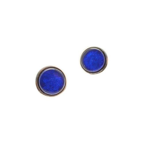 Blue Disc Earrings