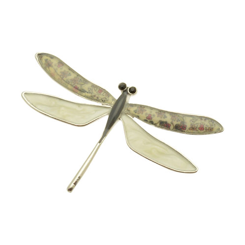 Cream Dragonfly Brooch
