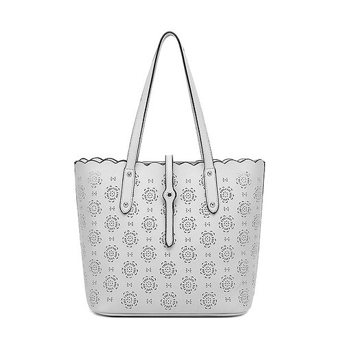 KissKerry Laser Cutout Tote - Grey