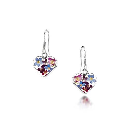 Purple Haze Heart Earrings