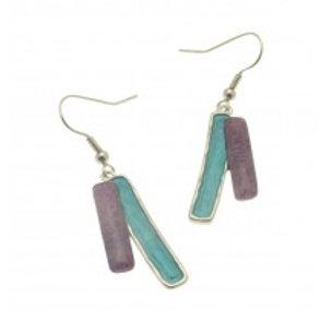 Miss Milly Purple Mix Earrings