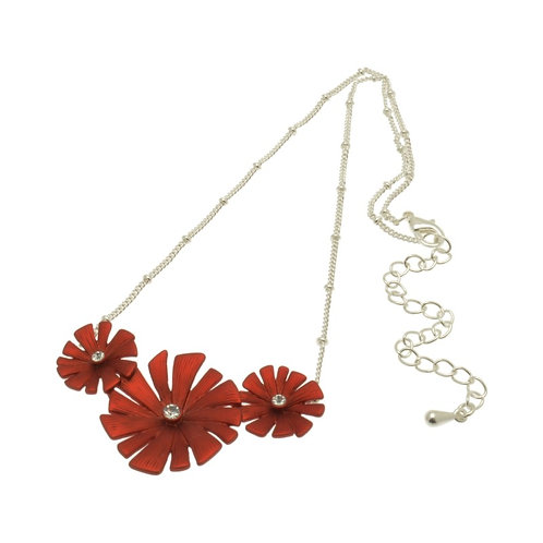 Red Daisy Necklace