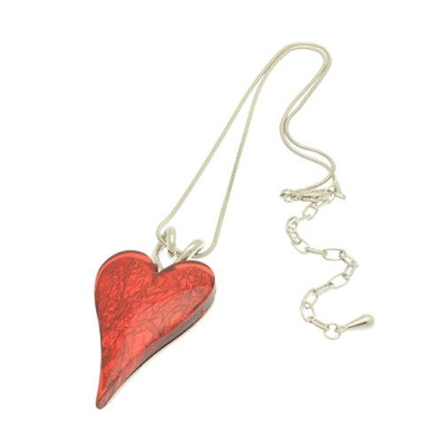 RedResin Heart Necklace