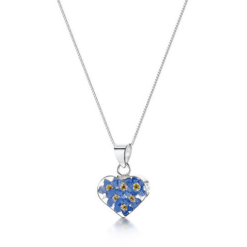 Forget-Me-Not Heart Necklace