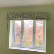 Blackout interlined blind fitted outside the recess