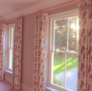 Pretty in pink pinch pleats with colour matched pole