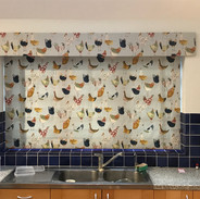 Kitchen blind with matching pelmet