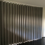 Blackout lined curtains with wave heading
