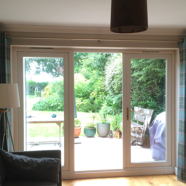Wool curtains with eyelet heading
