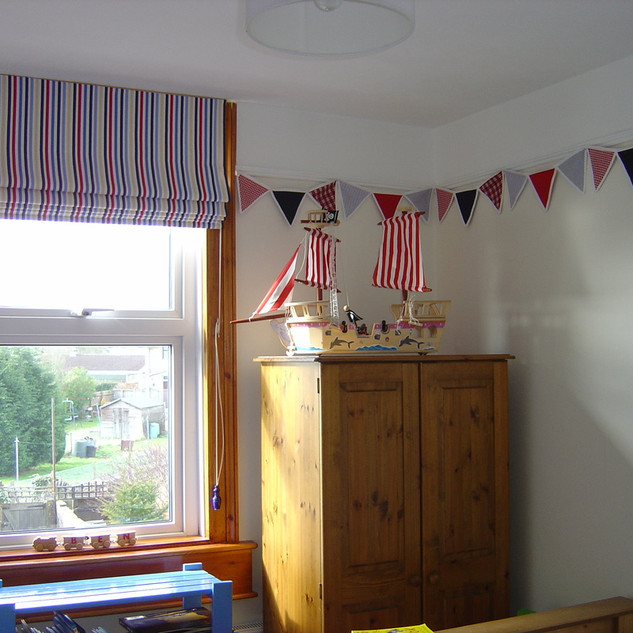 Boys bedroom blind