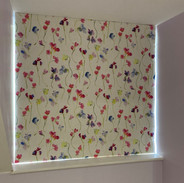 Blackout interlined blind fitted inside the recess