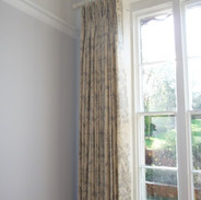 Pinch pleated linen curtains
