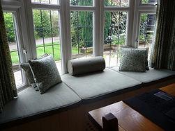 Window seat pads, bolster & scatter cush