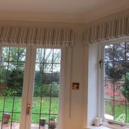 Dining room door & window blinds