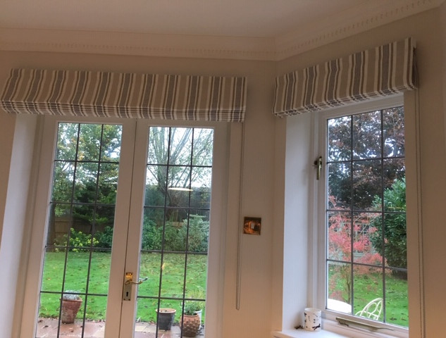 Dining room door & window blinds