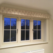 Pretty blackout interlined blind for a bedroom